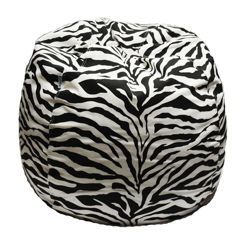 Zebra Print Bean Bag Chair